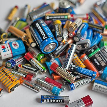 pile of old batteries