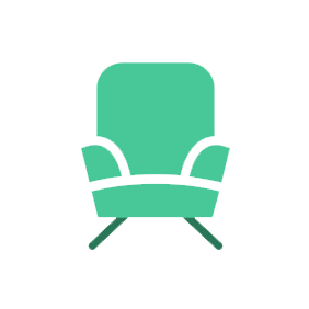 decorative chair vector image