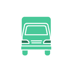 moving truck vector image